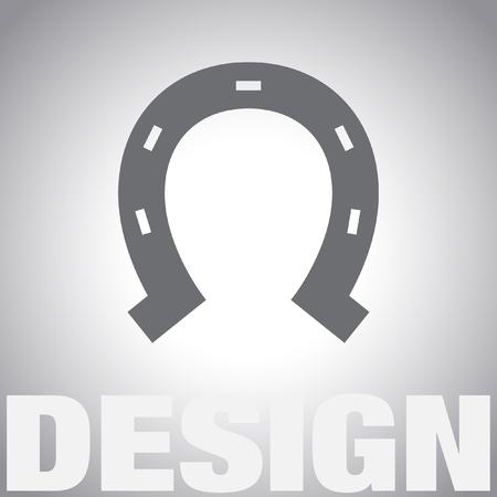 horseshoe vector icon