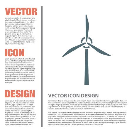 generator: wind generator vector icon