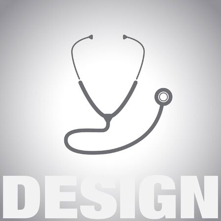 doctor with stethoscope: stethoscope vector icon