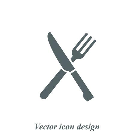 cuchillo: cuchillo y tenedor menú de iconos de vectores