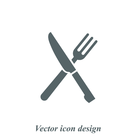 fork knife: knife and fork menu vector icon