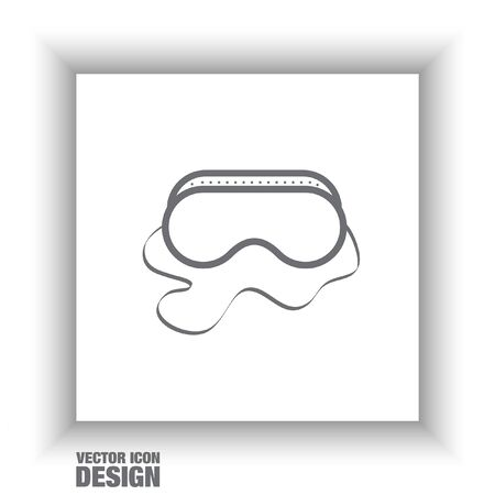 weld: safety work glasses vector icon