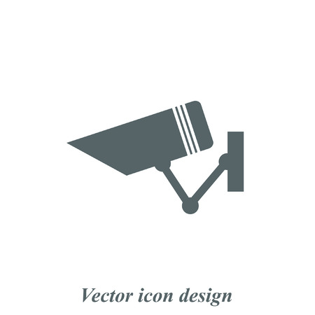 video surveillance: security surveillance camera vector icon Illustration
