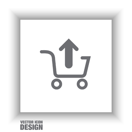 e store: remove from shopping cart vector icon