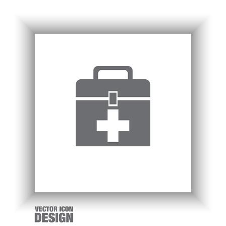 first aid box: first aid box Illustration