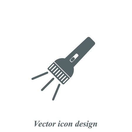 pocket flashlight: flashlight vector icon Illustration
