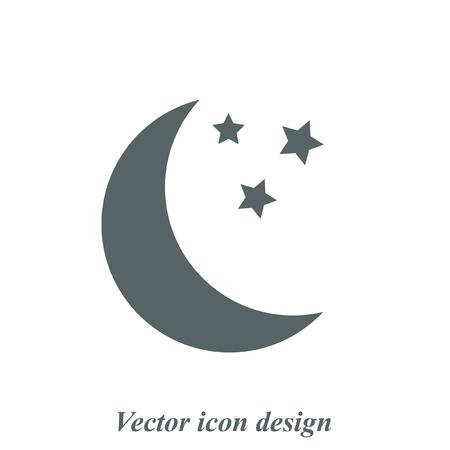 Księżyc ikona wektor Ilustracje wektorowe