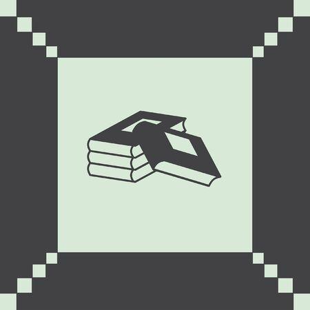 encyclopedias: books vector icon