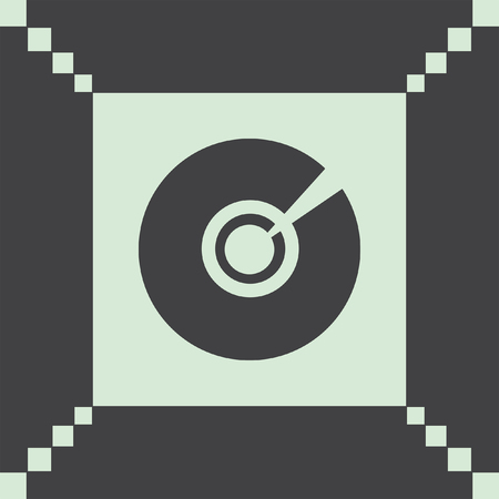 cd rom: cd dvd vector icon