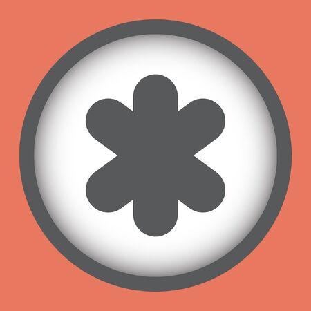 asterisk: asterisk vector icon