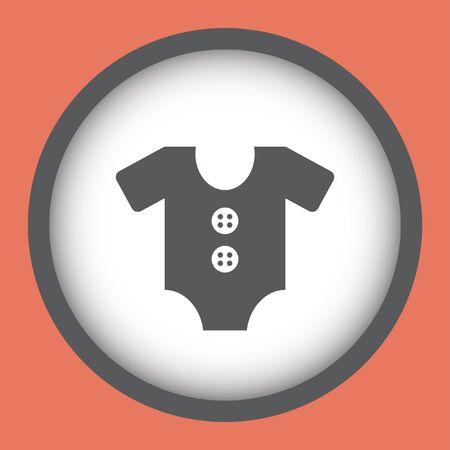 onesie: baby onesie vector icon Illustration