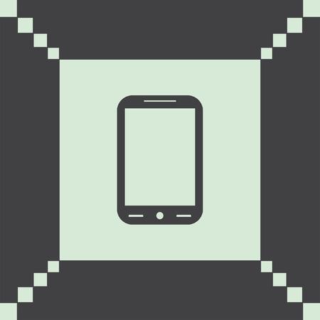 phone icon: smart phone vector icon Illustration