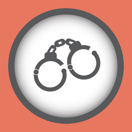 metal handcuffs: handcuffs vector icon Illustration