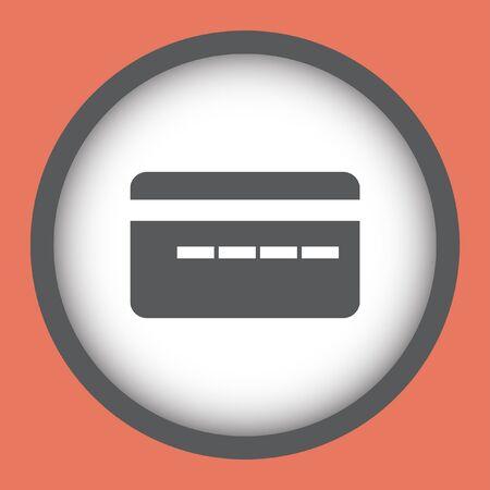 card: credit card vector icon Illustration
