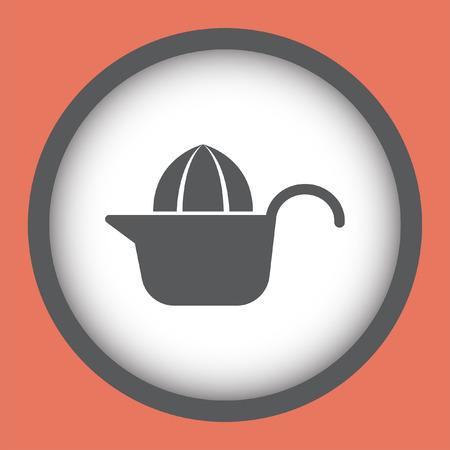 squeezer: citrus squeezer vector icon