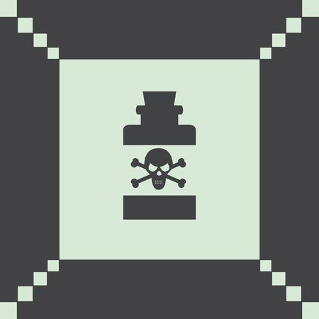 poison: bottle with poison vector icon