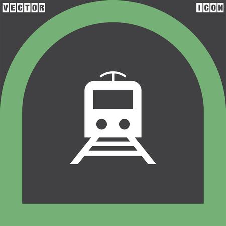 subway: subway metro vector icon Illustration