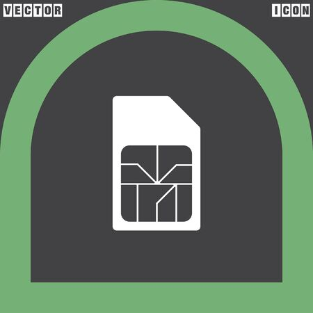 card: sim card vector icon