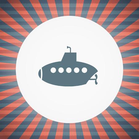 sonar: submarine vector icon