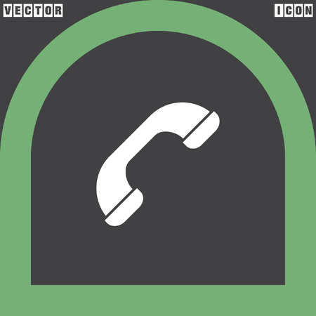 phone icon: phone flat vector icon