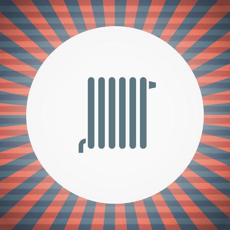 radiator: radiator vector icon