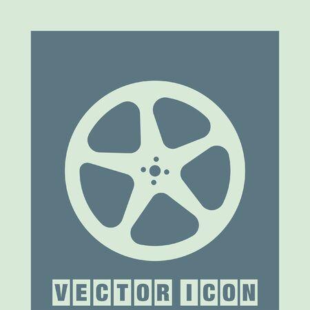 movie film: movie video film reel vector icon