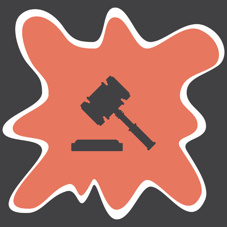 verdicts: judge hammer vector icon Illustration