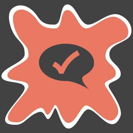 yes communication: speech bubble with ok sign vector icon Illustration