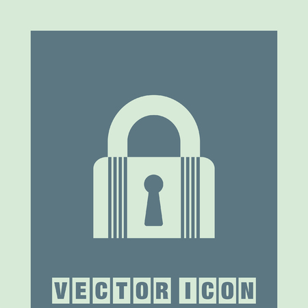 lock and key: lock closet state vector icon Illustration