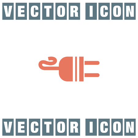 plug adapter: electric ac power plug vector icon