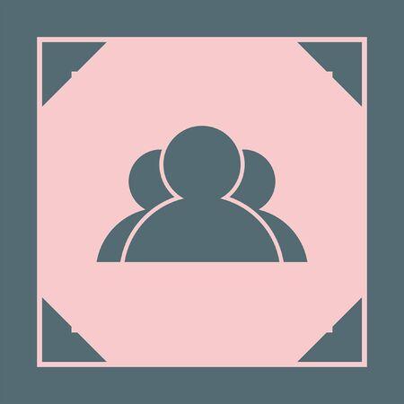 three people: three people vector icon logo