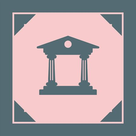 roman pillar: Institution vector icon