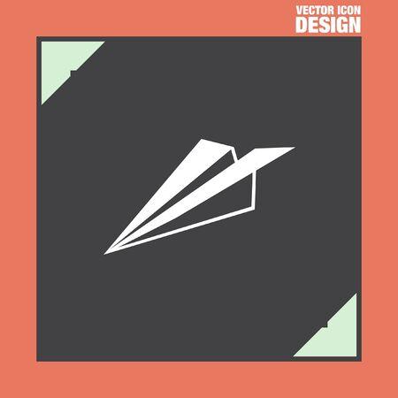 plane vector: paper plane vector icon