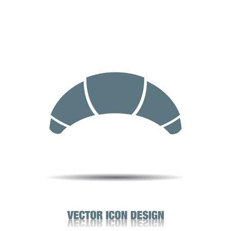 sweet bun: croissant vector icon