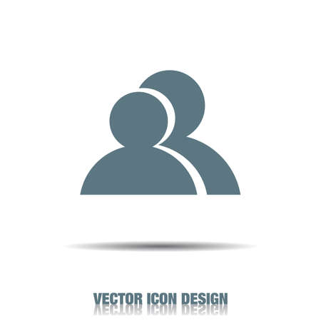 people icon: two people vector icon Illustration