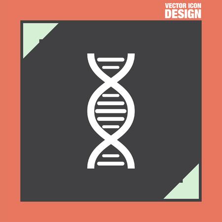 clones: dna chain vector icon Illustration