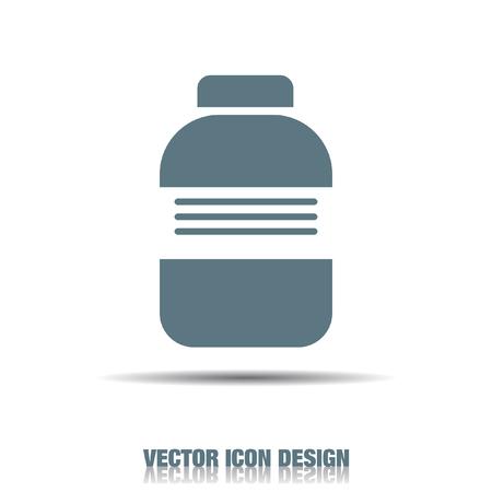 medical bottle vector icon