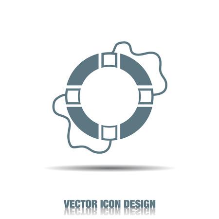 lifebuoy: lifebuoy vector icon