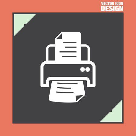 ink jet: printer vector icon