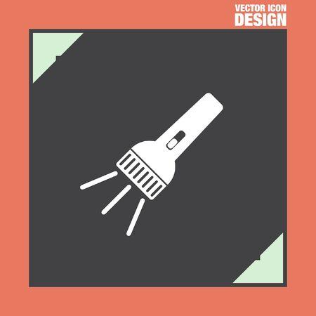 electric torch: flashlight vector icon Illustration