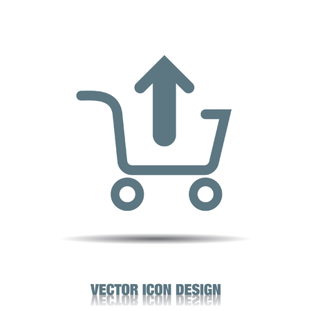 shopping cart icon: remove from shopping cart vector icon