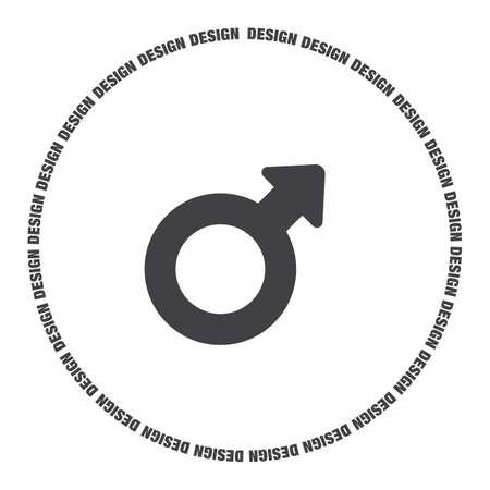 gender: male gender symbol vector icon Illustration