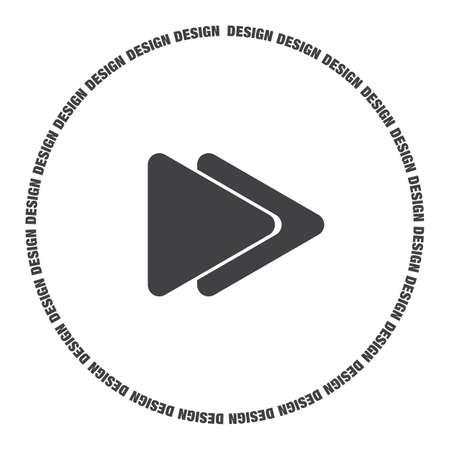 forward icon: fast forward button vector icon