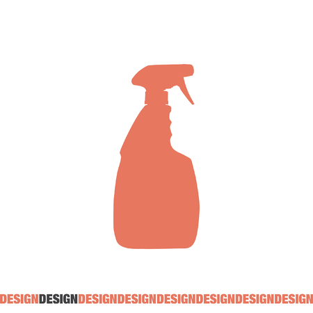 household cleaning bottle vector icon
