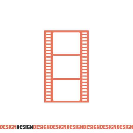 movie film: movie film strip vector icon