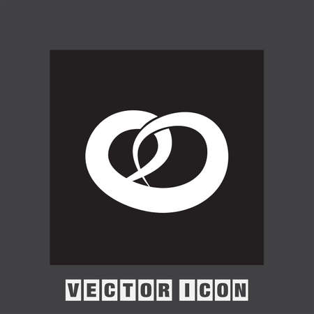 salty: pretzel vector icon Illustration