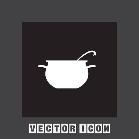 casserole: cooking pot vector icon
