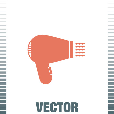hairdryer: hairdryer vector icon Illustration