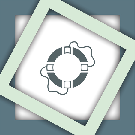 life support: lifebuoy vector icon