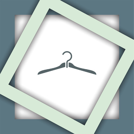 clothing rack: hanger vector icon Illustration